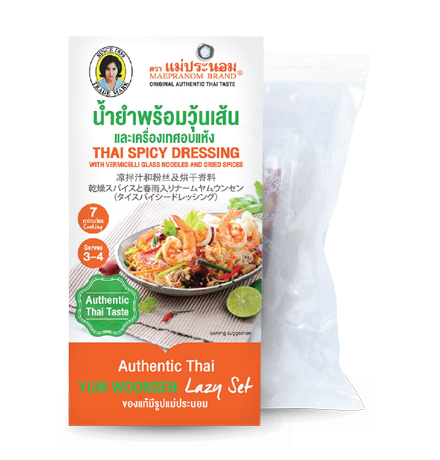 Thai Spicy Dressing With Vermicelli Glass Noodles And Dried Spices